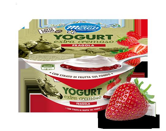 Yogurt intero da latte fieno stg con fragola